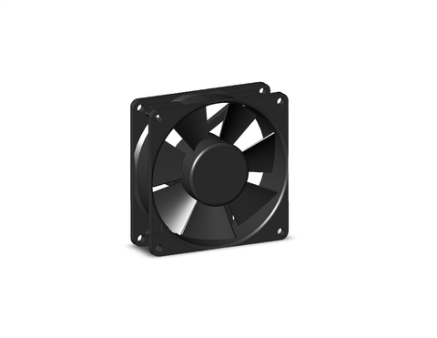"1939K34: DC Equipment Cooling Fan, 3.15"" Square x1"" Depth, 26 CFM, 24 VDC"