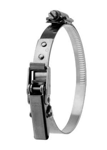 RP-15566: 210-255mm Diameter Hi-Torque  Rigid Claw Stainless Steel Quick Release Bandclamp (Natural)