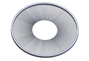 "RP-13405: Ring seal, #4 galv. channel, 6.0"" OD, 2.25"" ID, .018"" high heat nylon bristle"
