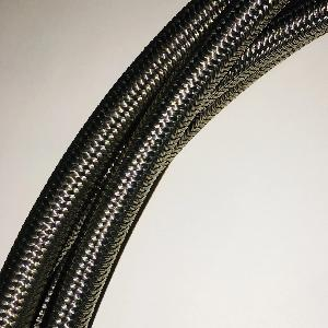 "6SB-6FJXBR-6FJXCS90-40: Hose, 3/8"" Stainless Steel Braided, 40"" L,"