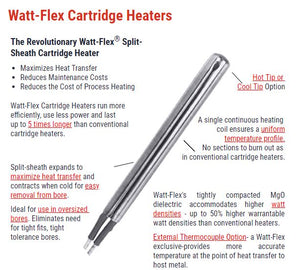 "RP-11671 Cartridge Heater, Watt-Flex 5/8"" X 27-3/4""L, 4000W, 240V"