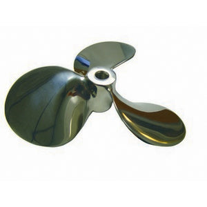 "RP-16469: Prop, steep pitch 5"" diameter, buffed mirror polish, model# SBP550, bore size = .3125"", 1 set screw installed"
