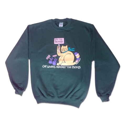 'Ban the Bomb' Sweatshirt - Forest Green