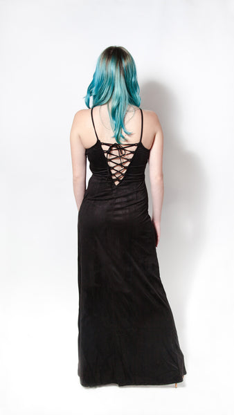 Wicked Vegan Suede Maxi Dress - Girl Party - 4