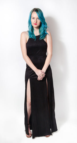 Wicked Vegan Suede Maxi Dress - Girl Party - 2