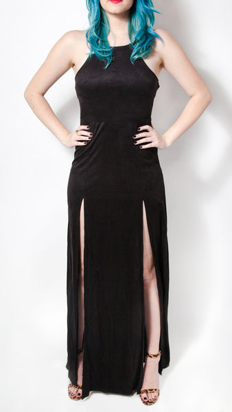 Wicked Vegan Suede Maxi Dress - Girl Party - 3