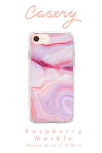 Raspberry Marble Cell Phone Case