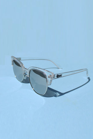 QUAY Avalon Sunglasses - Clear with Silver Lens