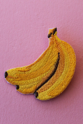 Banana Baby Patch with Safety Pin Backing