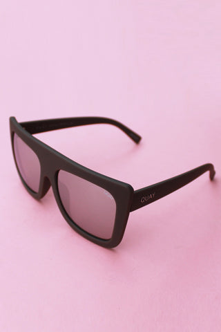 QUAY Cafe Racer Sunglasses- Matte Black with Smoke Lens