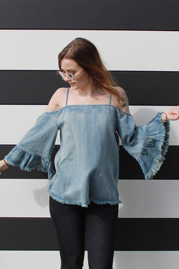 Picnic Party Denim Top - Girl Party - 1