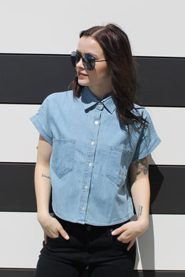 Button Up Baby Denim Top