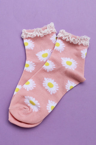 Daisy Darlin' Lace Frill Socks - Girl Party - 1