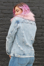 Load image into Gallery viewer, Anything But Basic Denim Jacket with Removable Fur