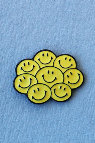 Happy Face Cluster Lapel Pin