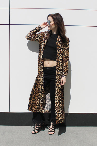 Miss Thang Leopard Coat