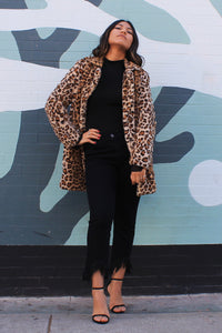 Night Moves Fuzzy Leopard Coat