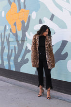 Load image into Gallery viewer, Night Moves Fuzzy Leopard Coat