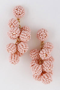 Beaded Cluster Bon Bon Earrings - Assorted Colors