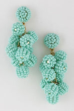 Load image into Gallery viewer, Beaded Cluster Bon Bon Earrings - Assorted Colors