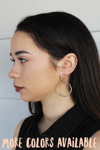 Double Diva Hoop Earrings - Girl Party - 1