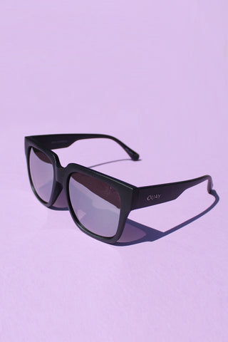 QUAY On the Prowl Sunglasses- Matte Black with Smoke Lens
