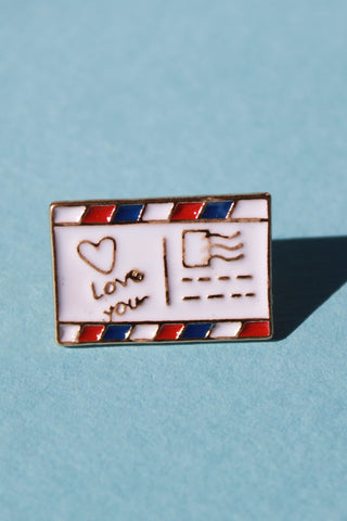 Postcard Lapel Pin