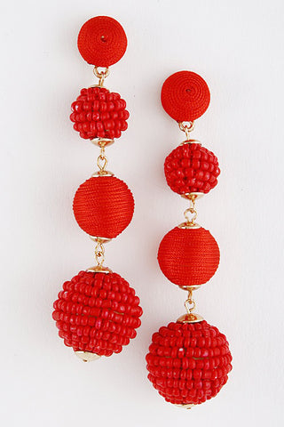 Beaded Stacked Bon Bon Earrings