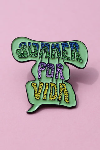 Summer Por Vida Lapel Pin - Girl Party - 1