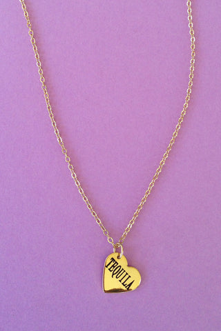 """Tequila"" Heart Necklace - Girl Party - 1"