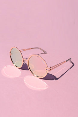 QUAY Ukiyo - Rose Gold with Pink Mirror Lens