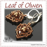 Beaded Dainty Earrings Tutorial - Leaf of Olwen