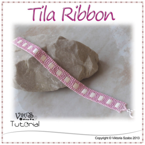 Tila Ribbon - Narrow Peyote Bracelet
