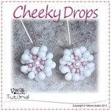 Beaded Flower Earrings Tutorial - Cheeky Drops