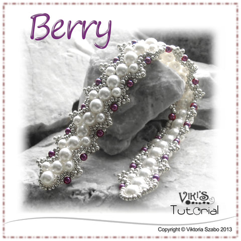 Beaded Pearl Bracelet Tutorial: Berry