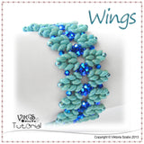 Bracelet Tutorial with Super Duo beads - Wings