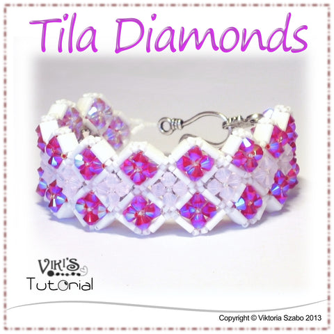 Reversible crystal bracelet - Tila Diamonds