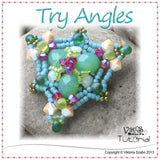 Triangle shaped beaded pendant - Try Angles