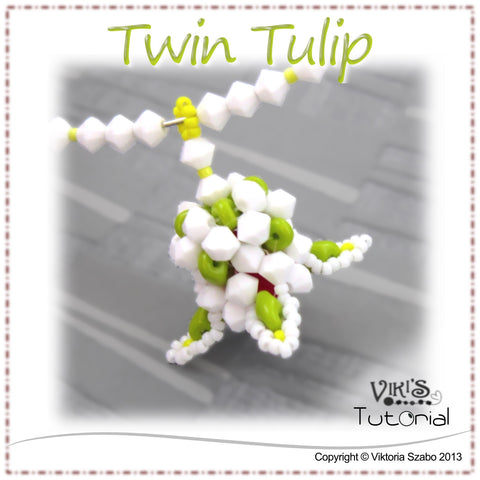 Simple Flower Pendant Tutorial: Twin Tulip