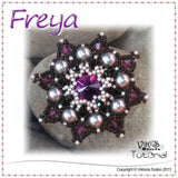 Freya - Crystal Pendant with Peyote Bezel