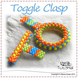 Toggle Clasp Tutorial: Peyote Ring and T-Bar
