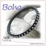 Narrow Bangle Bracelet - Boho