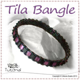 Bead Woven Narrow Bracelet - Tila Bangle