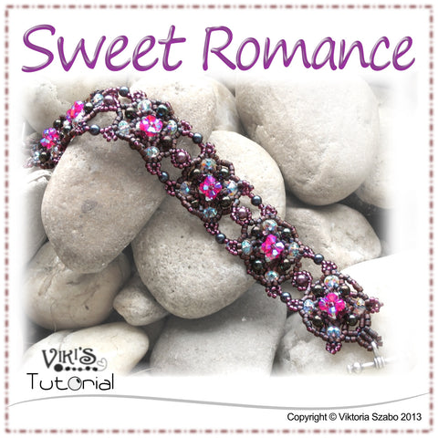 Romantic Beaded Lacy Bracelet - Sweet Romance