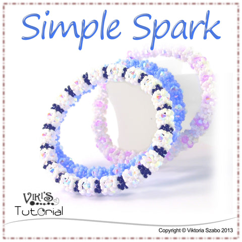 Right Angle Weave /RAW/ Bangle - Simple Spark