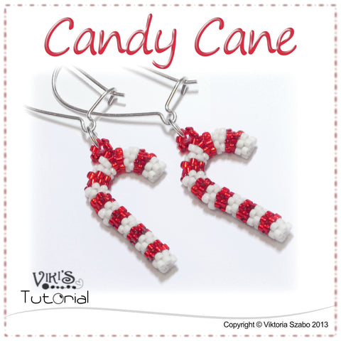 Beaded Christmas Candy Cane Tutorial