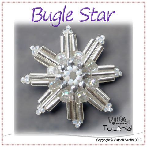 Beaded Snowflake - Bugle Star