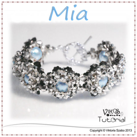Beaded Crystal Bracelet Tutorial: Mia