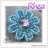 Beaded Rivoli Pendant with Cubes - Rhea