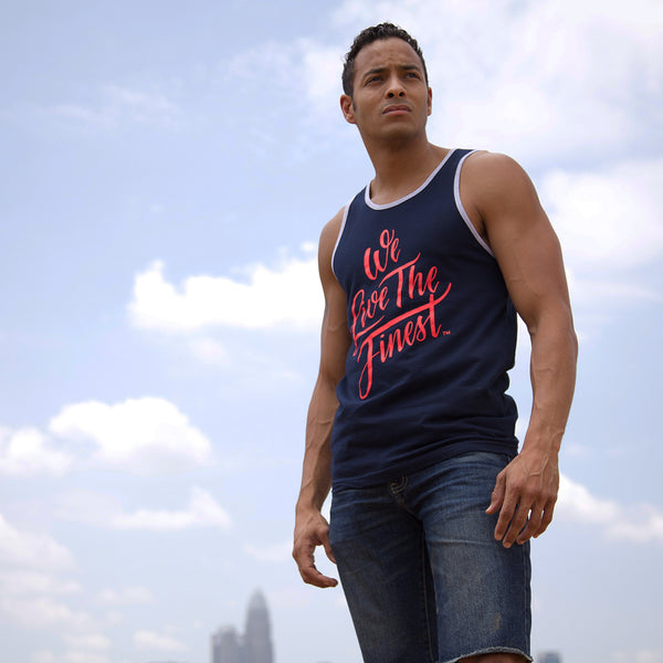 We Live The Finest® Unisex Script Tank